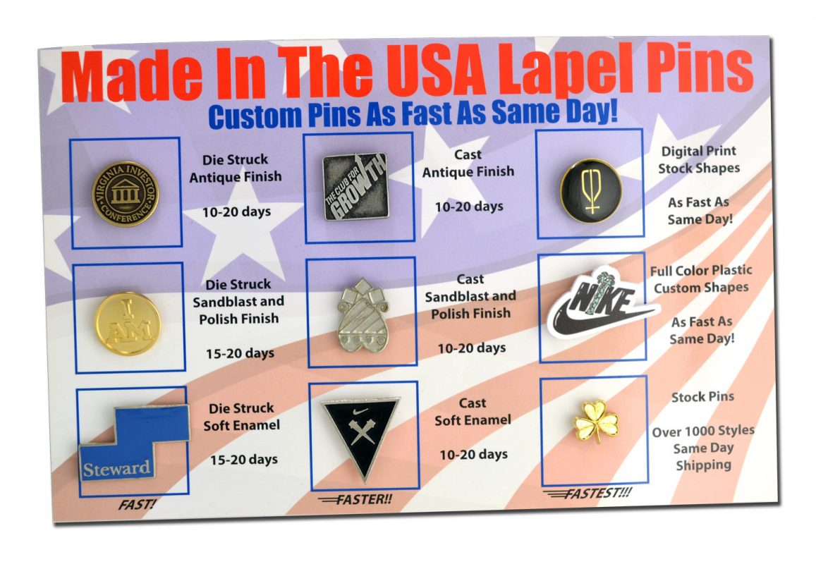 Request your Free Lapel Pin Sample Kit - PinLine